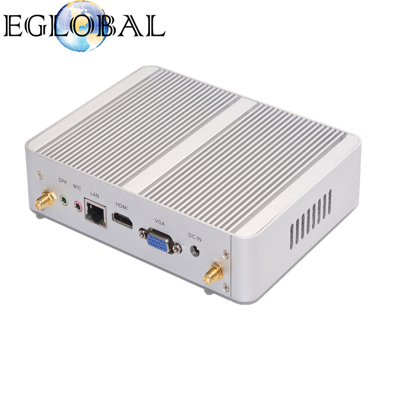 Fanless Mini PC HTPC Game Computer With Haswell Architecture Core i3 4012Y/i5 4200Y Dual Core 4 thread CPU 8GB DDR3 RAM 32GB SSD