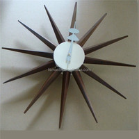 Sunshine Sunburst walnut color suspend Starburst Clock