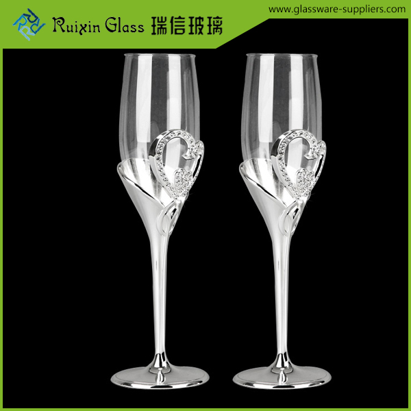 Handmade glass champagne,wedding toasting flutes for hotels