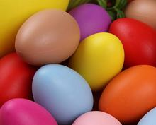 Colorful Plastic Easter Eggs for Kids drawing