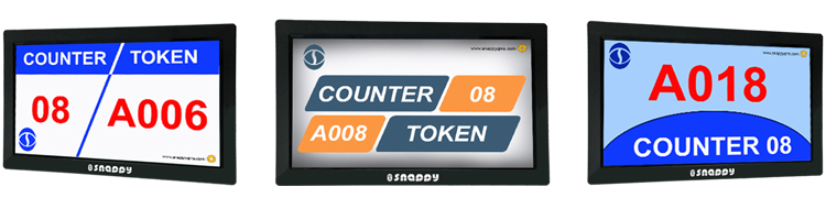 Snappy 14 inch counter display LCD digital number screen queue ticketing system for bank  hospital  clinic