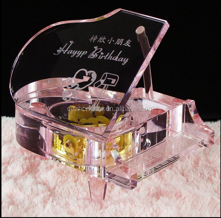 Hot Sale Fashional clear Crystal Piano for Wedding Souvenirs