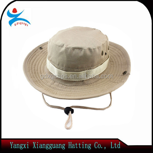 OEM wholesale promotional high quality fashion 100% canvas cowboy hat sports cap outdoor