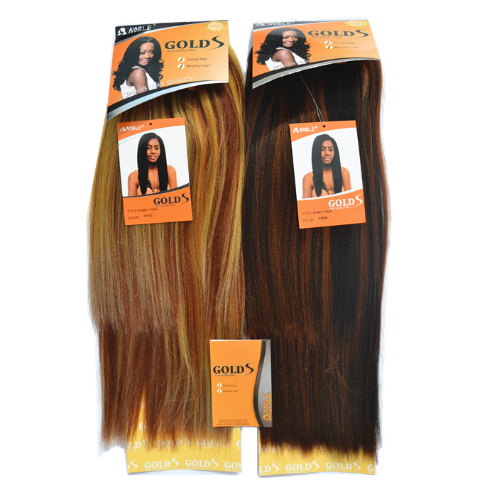 New Arrival Rebecca Hair Extension Noble Gold Kinky Yaki Fashion Synthetic Hair 300g/5pcs