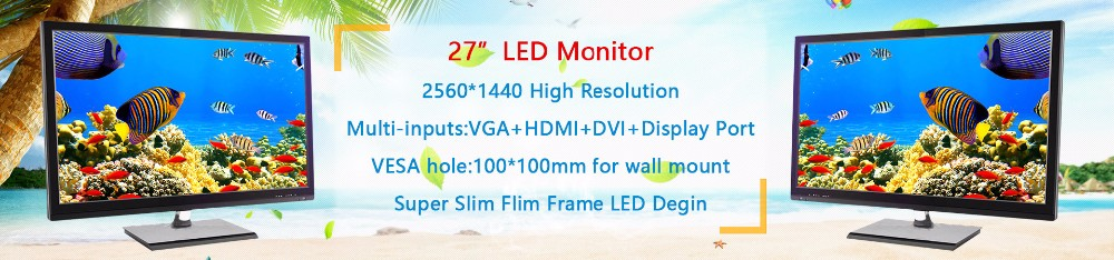 Ultra-thin 27 inch led gaming monitor with 2560x1440 resolution 144hz