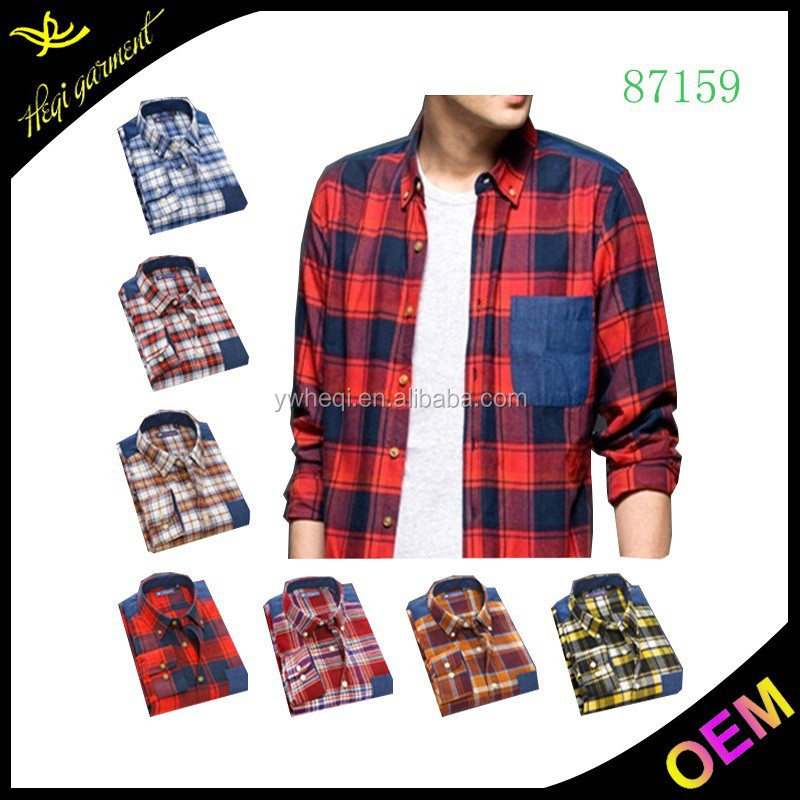Top quality latest shirts design red black men flannel shirt new pattern shirts