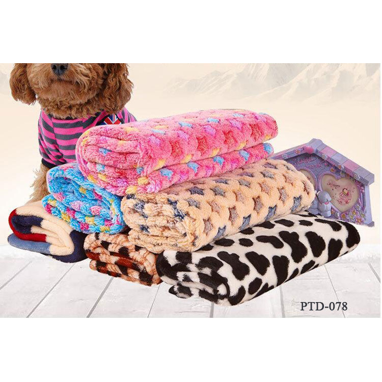 Warm Pet Dog Beds Cover Mat Thickened Coral Fleece Dog Blanket Soft Quilt For Small Medium Puppy Dogs Cats
