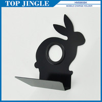 Rabbit Shaped Black Metal Cell Phone Holder Stand