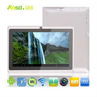 wholesale clearance sale allwinner q88 touch laptop 512MB 4GB tablet 7 inch dual camera