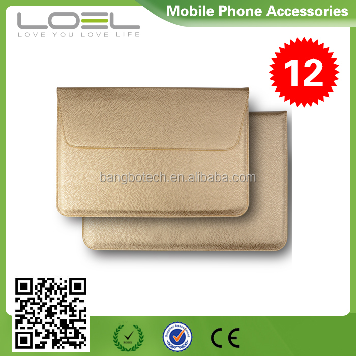 For macbook pro 15 inch leather pouch wholesale , sleeve bag for apple tablet cover 11-AV677(2)