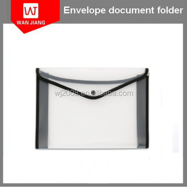 Premium Quality Office Meeting Waterproof File/Document/Paper Bag/Pocket/Folder /Poly Envelope with Snap Button