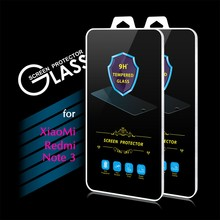 2016 New Arrival 9H 0.3mm 2.5D Premium Tempered Glass Screen Protector Film for Xiaomi Redmi Note 3