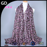 GDBS67 Online shopping hot sale flower paint beautiful women floral hijab turban