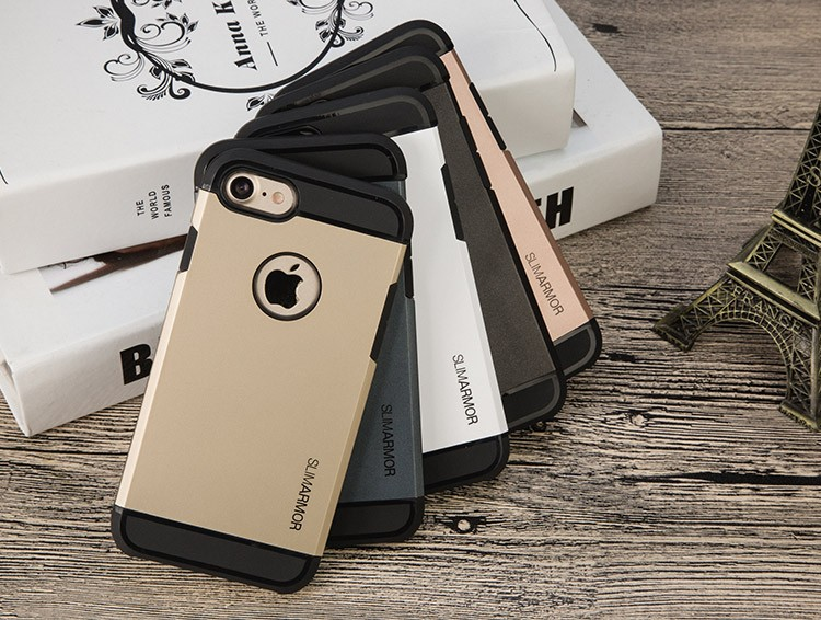 Shockproof Strong Protective Ultra thin Slim Armor Case For iPhone 7 7s & Plus