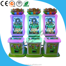 coin pusher video game machine crazy animals battle lottery prize vending game machine