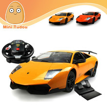 1:10 4 CH RC Car with LED lights and steering wheel Foot pedals gravity sensing remote control car