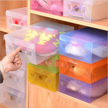 More cheaper eco friendly pp flip folding collapsible plastic shoe box
