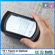 3R-Smolia-Wide-LC 2.5X PMMA LED magnifier for card and phone christmas wholesale