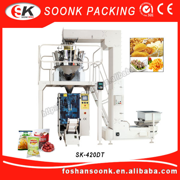 Head Sealing Food Chips Snack Packing Machine