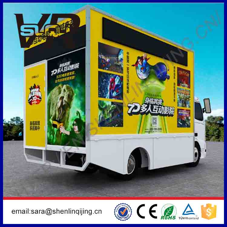 5D cinema 7d cinema system truck mobile 9d cinema with electric cylinder