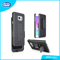 Factory price ultra strong phone accessories holster combo case for note 5