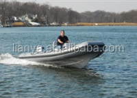 Liya fiberglass CE 5.2m rigid inflatable rib boat RIB520A for sale very hot