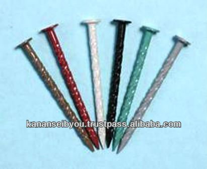 Stainless steel nail for acrylic coats made in Japan