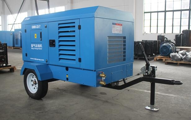 used portable diesel air compressor