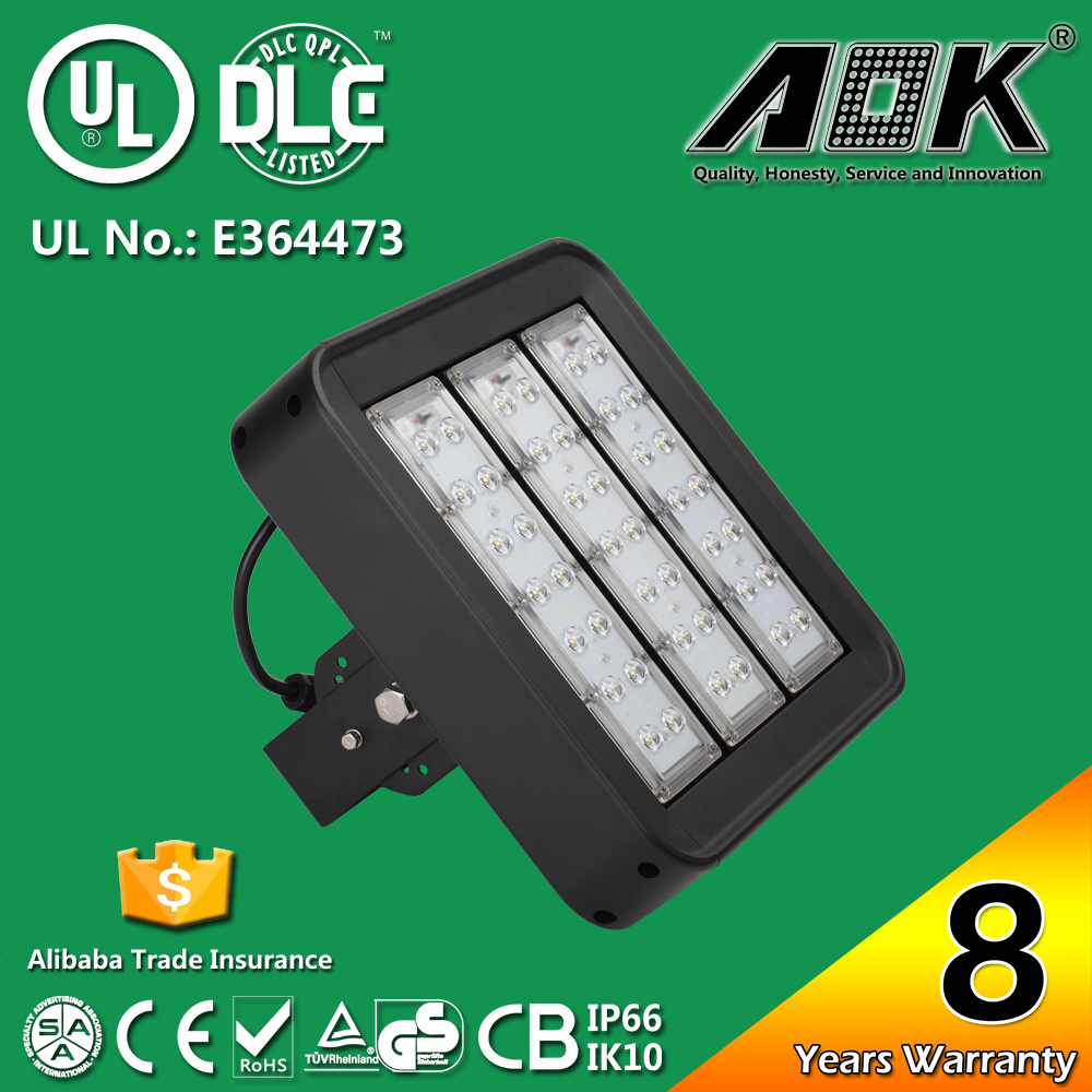 with 8 Years Warranty TUV GS UL DLC IP67 Waterproof 120W driveway pole light