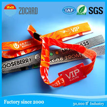 Festival ticket fabric / woven rfid disposable wristband