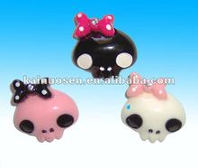 Bow resin Skull Flat Back