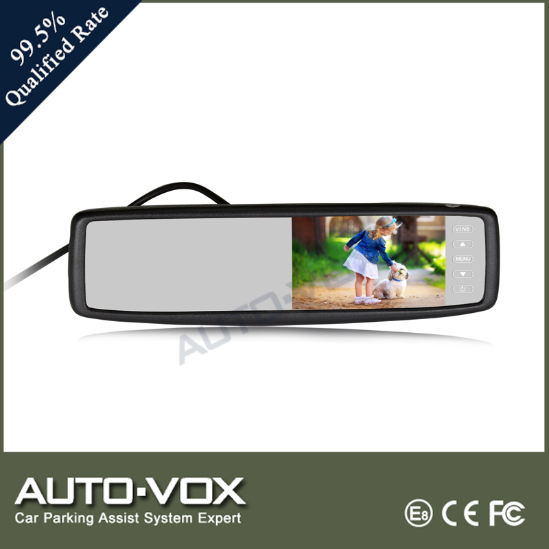 "China black 5"" rear mirror with touch screen button"