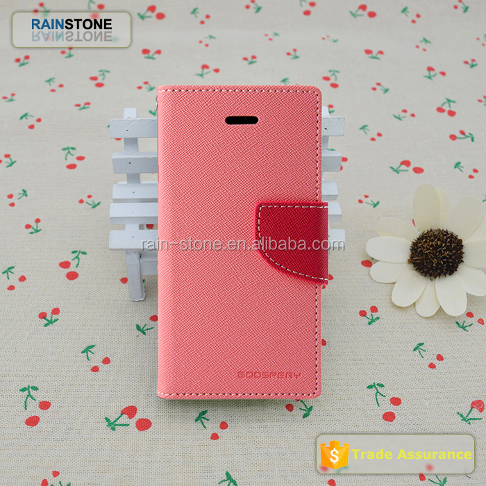 Original mercury fancy diary case for iPhone 4, for iPhone 4S leather flip cover