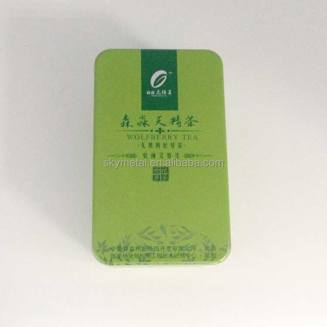Rectangle shape metal tea packaging tin box