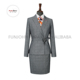 newest polyester rayon fabric ladies office uniform skirt suit for women formal