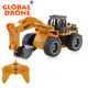 Huina TOYS 1530 2.4G 6CH Mini RC Excavator Engineering toy wheel excavator Toys for Children rc monster truck