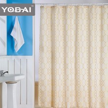 Best Quality New Coming Jacquard Luxury Double Swag Fabric Shower Curtain Ready Made