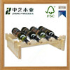 natural wood large Wooden Wine Bottle Holder