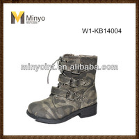 Minyo latest camouflage kid ankle boot wholesale