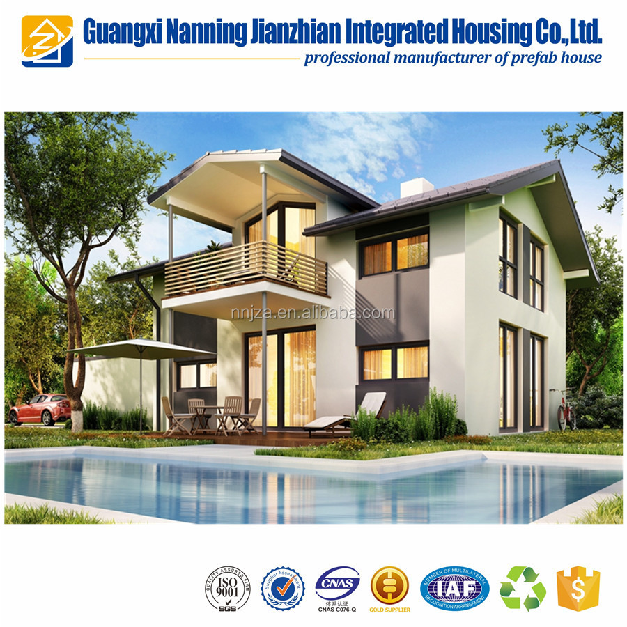 Vacational prefab house prefabricated villa with composite sandwich panel hot sell in USA