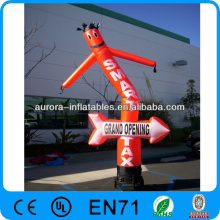 New inflatable advertising single legs air dancer with logo printing