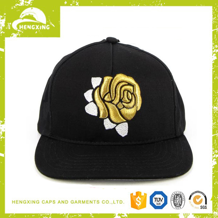 Fashion cool embroidery logo snapback flat brim mens hats