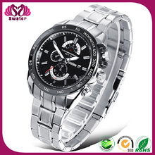 Japan Movement Quartz Stainless Steel Watch Water Resistant