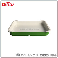 Cheap Plastic Melamine Fast Food Serving Tray With Handles/Designer Food Serving Trays/print Melamine Trays