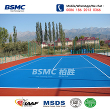 Outdoor ITF certificated tennis sports courts flooring surface