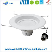 HOT sale E26 downlight fitting US market 5/6 inch 18W recessed e26 downlight fitting