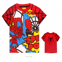 boys' clothing T-shirt for kids clothing wholesales Spiderman customs print T-shirt MS0088