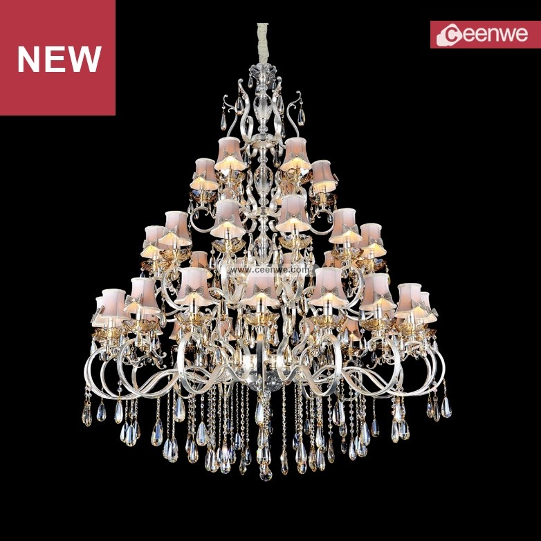 Best selling Modern european crystal wedding hall chandelier