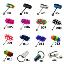 Vibrating Tongue Bar Ring Koosh Ball + 4 Batteries Body Piercing Jewelry