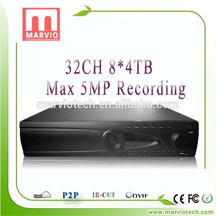[Marvio NVR Series] 1080p full hd media recorder 24ch nvr hdmi input usb output factory price